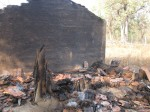 Houses burnt in Tadinetla village